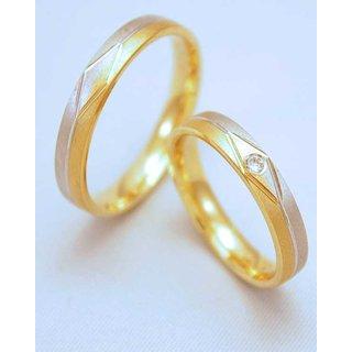 ... Trauringe Gelb-Weiß » Trauringe Weißgold/Gelbgold mit Brillant *2